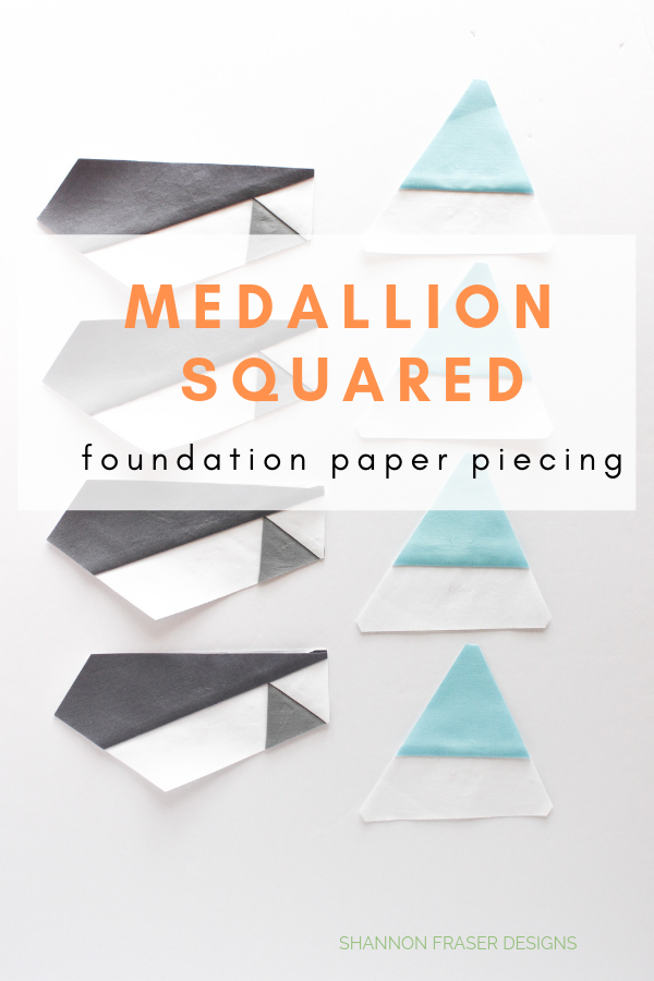 Medallion Squared quilt Q4 Finish-a-Long List of Projects | Shannon Fraser Designs #fpp #foundationpaperpiecing #freequiltblock