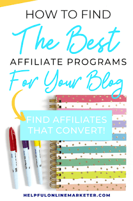 Finding the best affiliate program for your blog isn't easy. In the beginning you'll get rejected a lot. So your tempted to join any that'll accept you. But not every affiliate converts well. Find out how to find the best affiliate marketing programs as a new blogger. #newblogger #beginnerblogger #affiliatemarketing