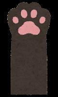 猫の手のイラスト(黒)