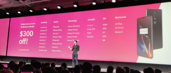 T-Mobile offers $300 trade-in credit towards OnePlus 6T with 33