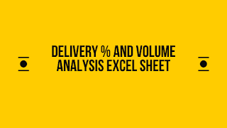 Delivery percentage and volume analysis