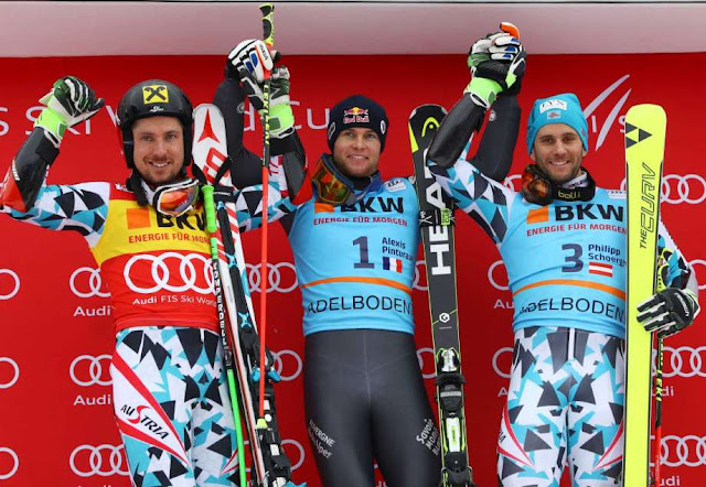 Alexis Pinturault Wins World Cup GS in Adelboden