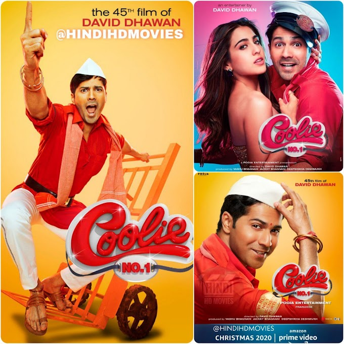 Download Coolie No. 1 (2020) Hindi Movie WEB – DL || 480p [400MB] || 720p HEVC [780MB] || 720p [1GB] || 1080p [2GB]