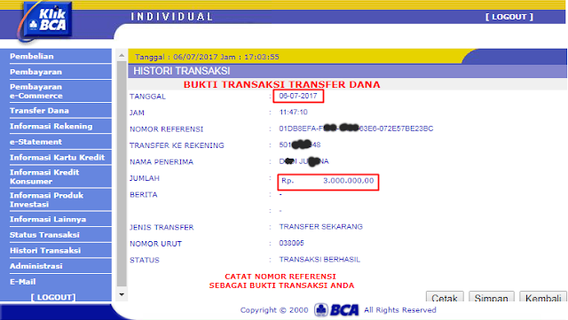 Slip Pembayaran MIX Parlay IBCBET / Maxbet Mandiri88