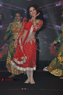 Bollywood Actress Model Sunny Leone Dance Performance in Red Half Saree at Rogue Audio Launch 13 March 2017  0061.jpg