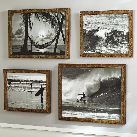 I love the simple chocolate brown frames with the black and white photos