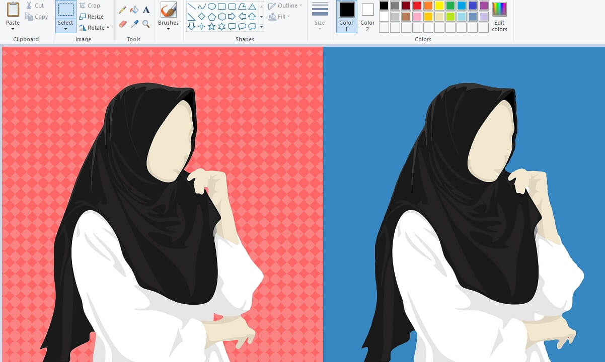 Cara Ganti Background Foto Dengan Paint