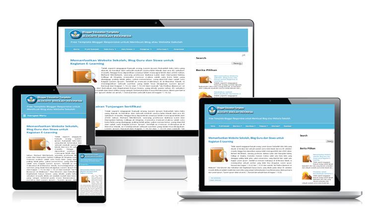 Template Blogspot untuk Web Sekolah