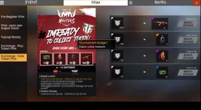 Jika kalian ingin mengetahui cara mendapatkan  Tournament Badge Free Fire dan Trophy Of Glory di Event FFIM