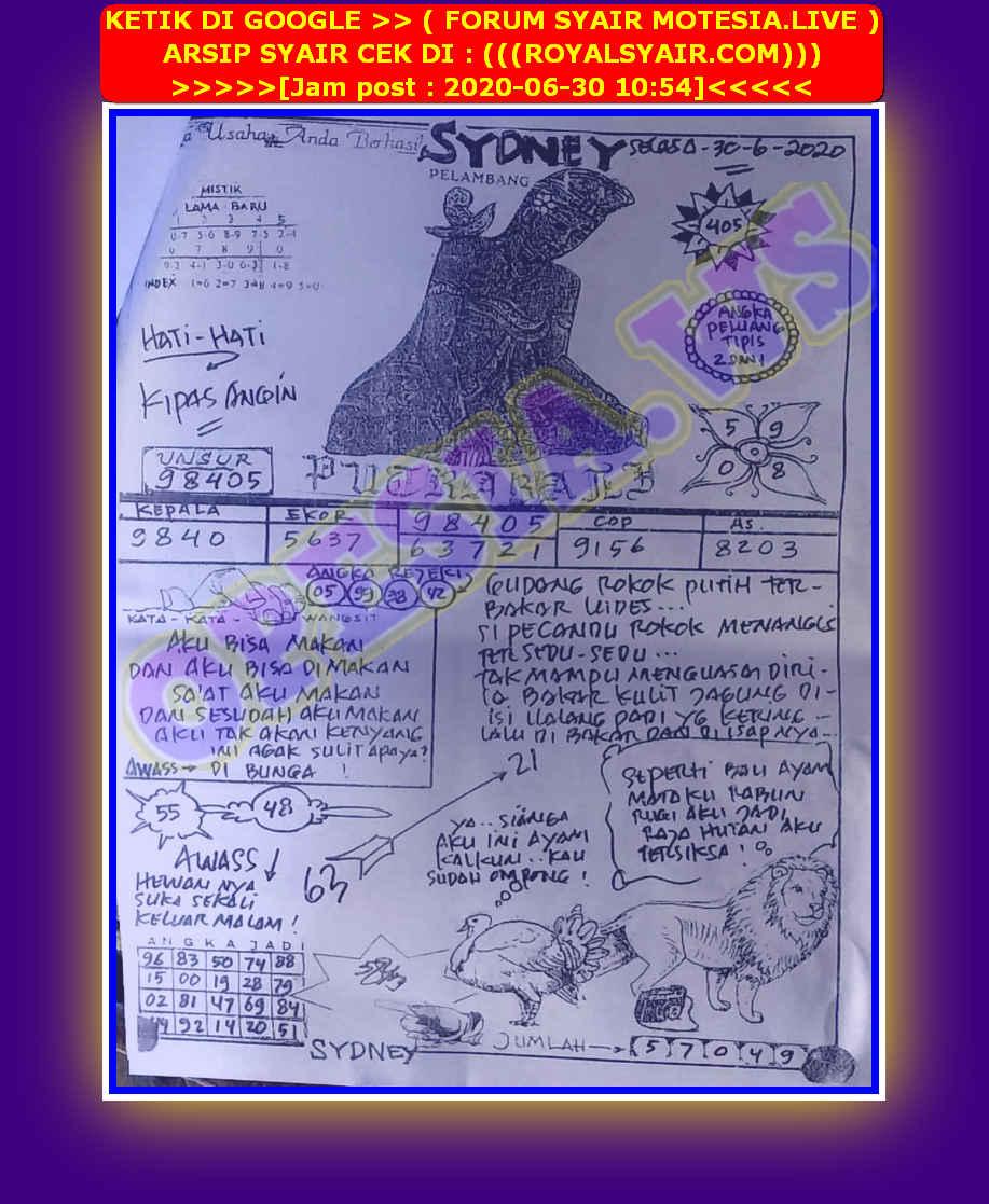 Kode syair Sydney Selasa 30 Juni 2020 22