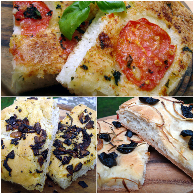 Focaccia bread from bread machine by Laka kuharica: easy bread machine basic focaccia with different toppings.