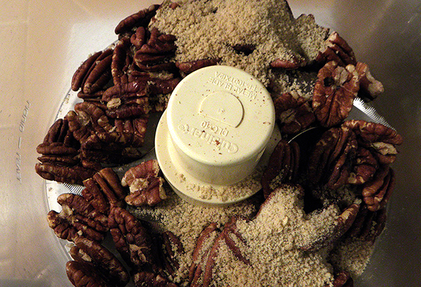 Pecans and Breadcrumbs in Food Processor