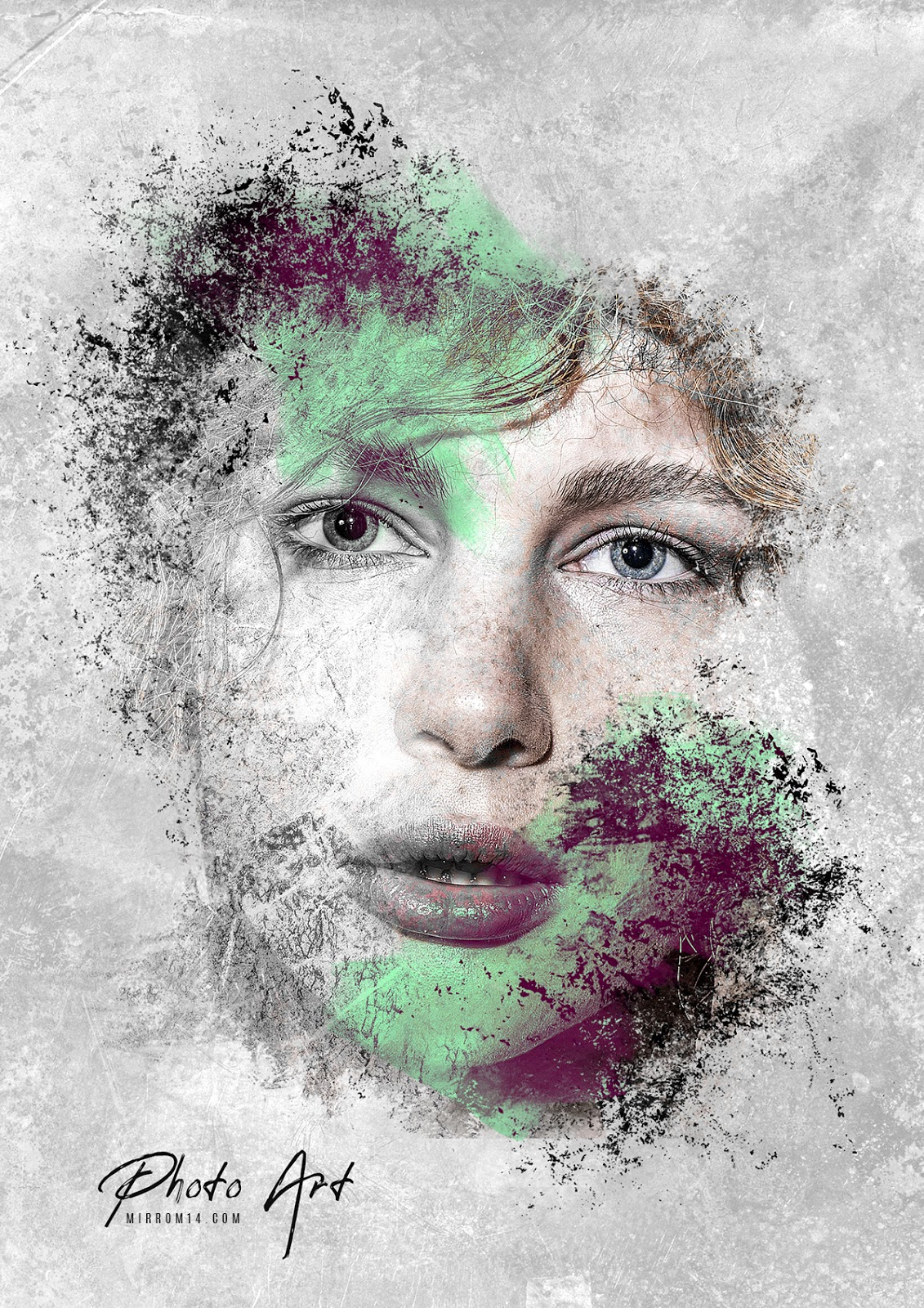 Creative Photo Art Paint Grunge Brush Photoshop Tutorial