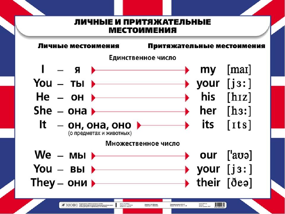 МЕСТОИМЕНИЯ some any no every И ИХ ПРОИЗВОДНЫЕ kuznetsovo  2 Притяжательные местоимения
