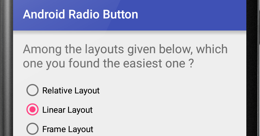 Android Radio Button Example | Viral Android – Tutorials, Examples ...
