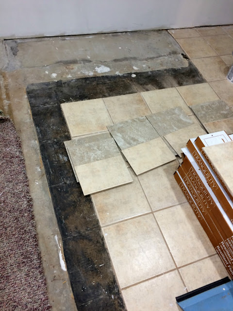 Hate your ceramic tile? You do not have to tear it out, just paint it! It's easy and cheap!