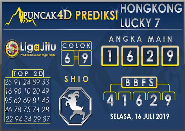 PREDIKSI TOGEL HONGKONG LUCKY7 PUNCAK4D 16 JULI 2019