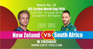 Who will win World Cup 2019 25th Match New Zeland vs South Africa Today Match Prediction Toss Session Lambi pari Fancy Astrology 100% Fixed Report