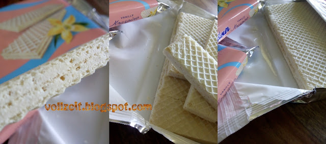 wafers with milk and vanilla cream