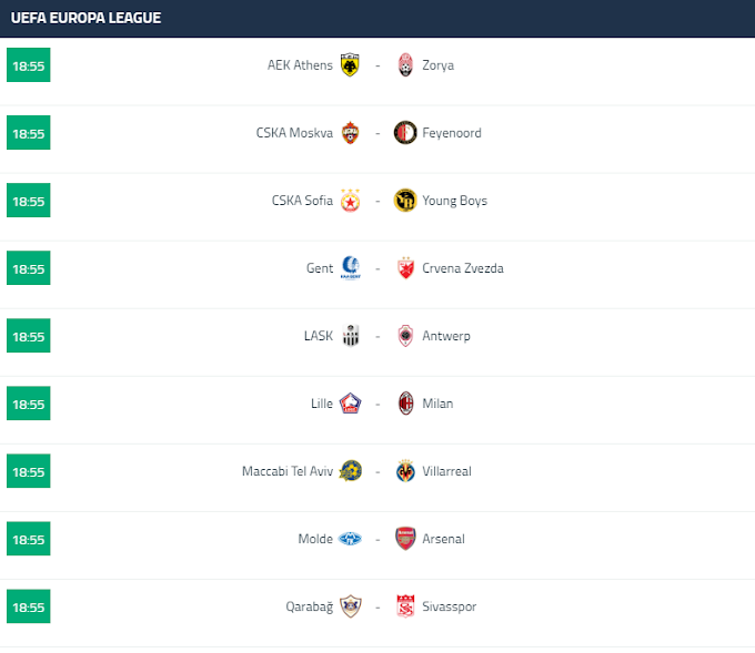 Europa league fixtures