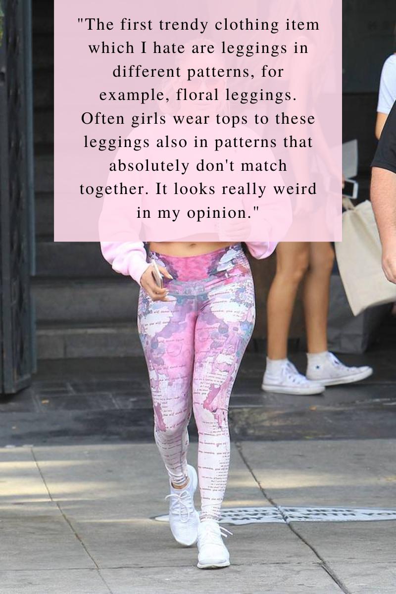 Jennifer Lopez, patterned leggings