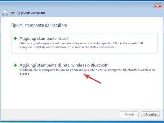 Aggiungi stampante Windows 7