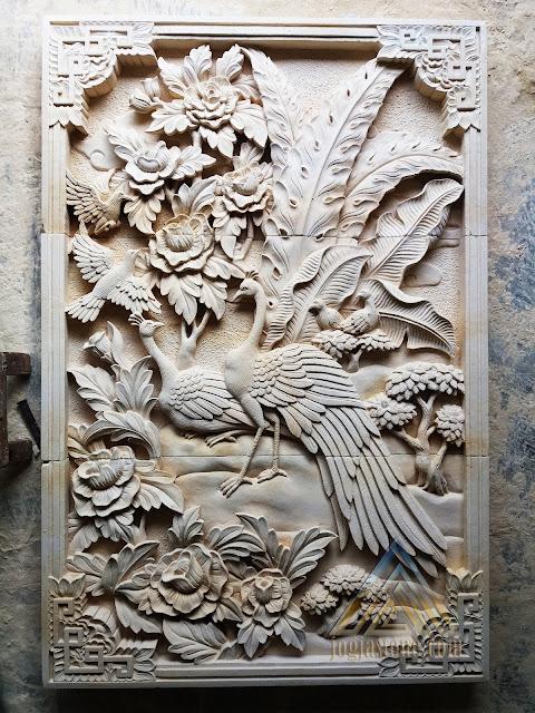 relief batu alam paras jogja/batu putih