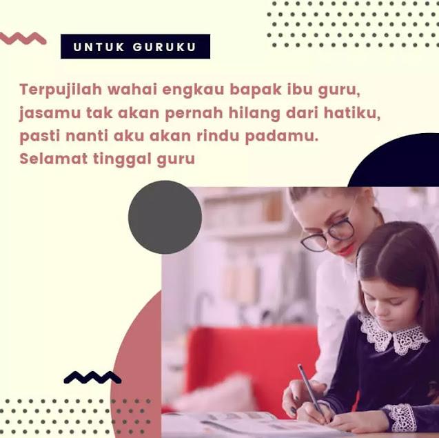 Kata Kata Perpisahan Sekolah untuk Guru