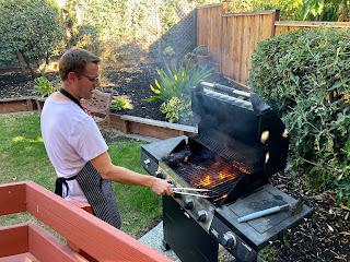 bbq grill, handsome husband