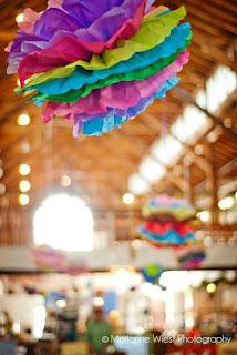 tissue paper chandelier