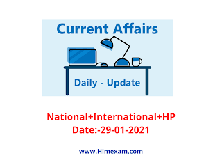 Daily Current Affairs 29 January  2021