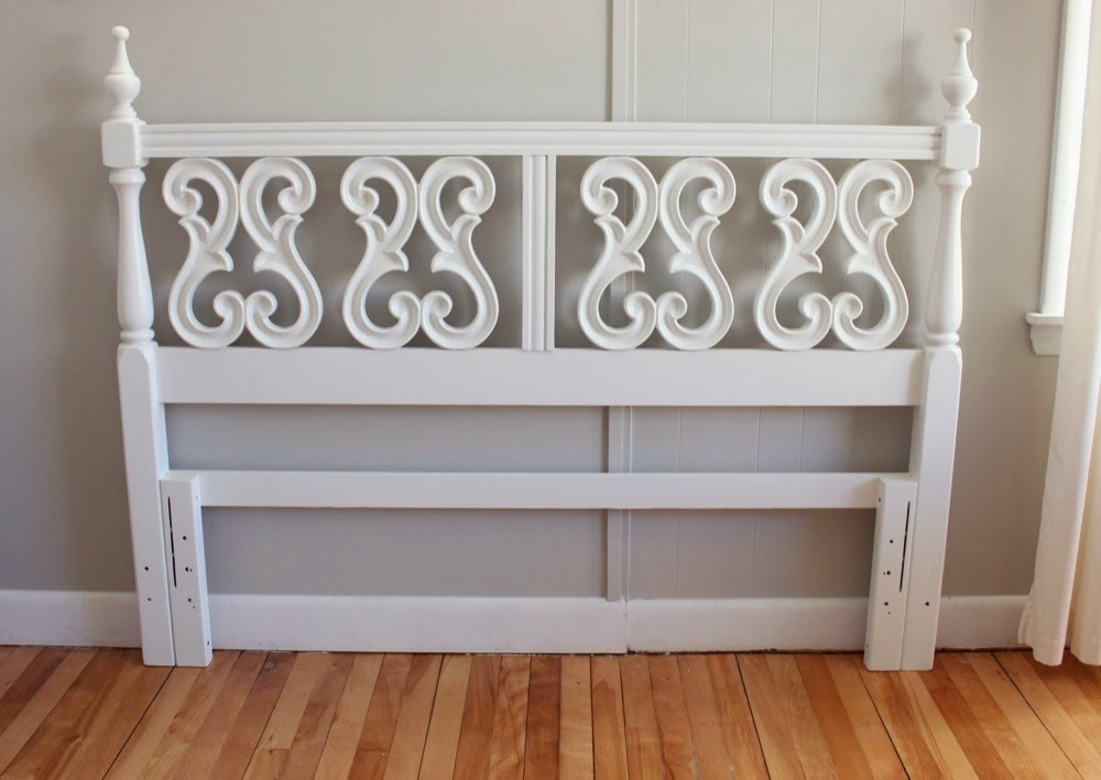 Blue Lamb Furnishings : White Intricate Queen Headboard