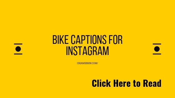 Latest bike captions for instagram (updated 2019)