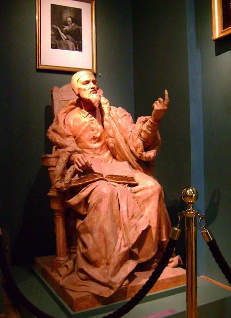 João Calvino (1509-1564). Estátua no Museu Internacional da Reforma Protestante de Genebra.