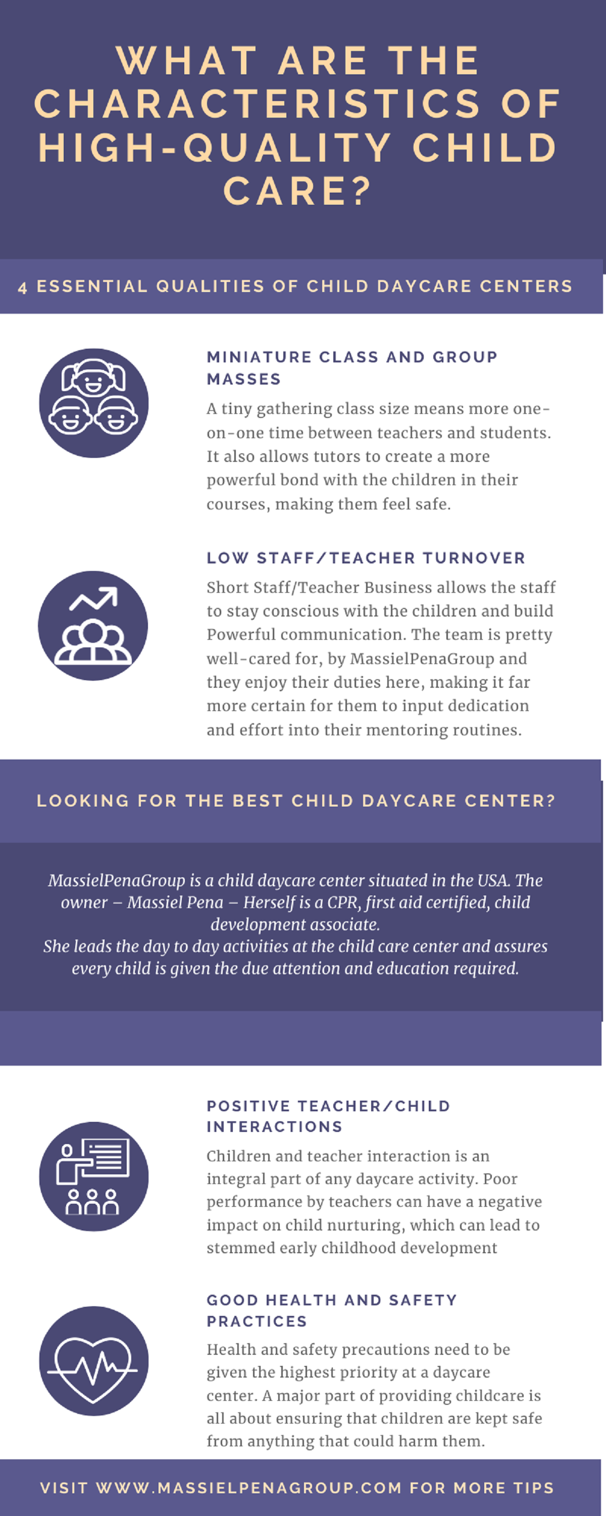 Four Essential qualities of child daycare centers #infographic