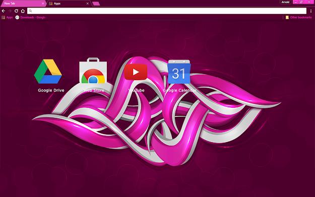 Purple Graffiti Chrome Theme