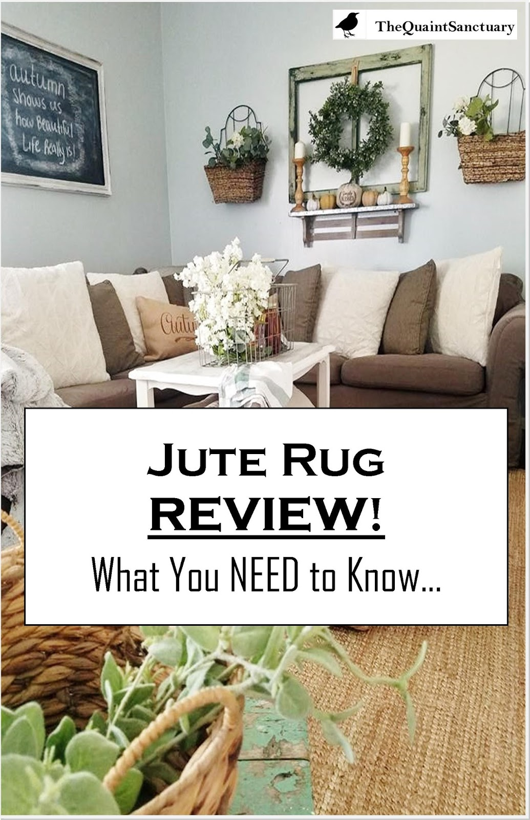 The Quaint Sanctuary: { Jute Rug REVIEW- What you NEED to Know... }