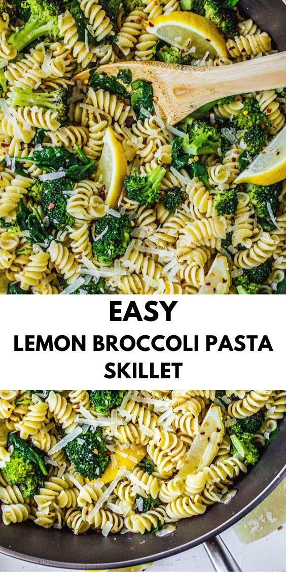 Easy Lemon Broccoli Pasta Skillet