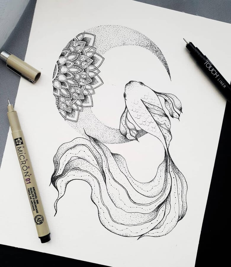 10-Fish-and-mandala-moon-Marina-Tim-www-designstack-co