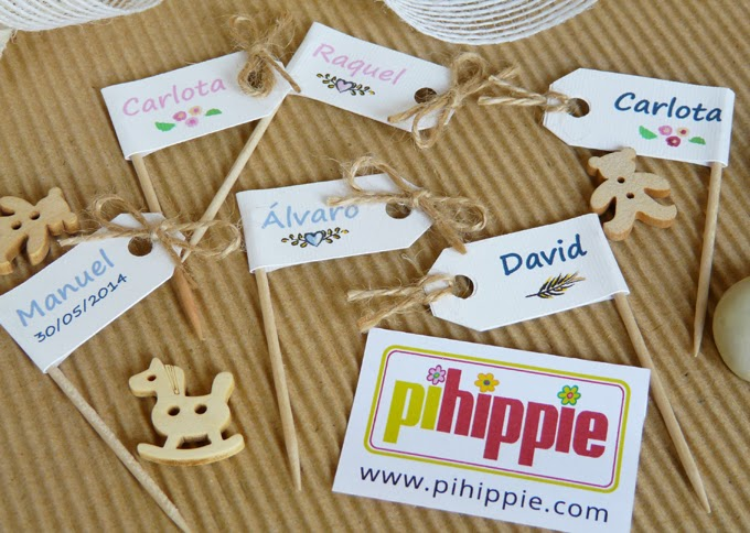Decoracion Comunión personalizado original Candy Bar Toppers