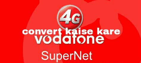 Vodafone 4G sim
