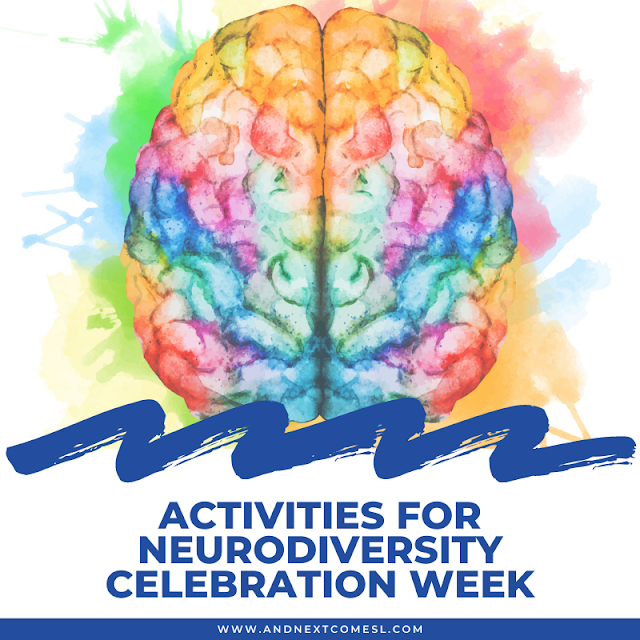 Activities, printables, and resources for participating in Neurodiversity Celebration Week