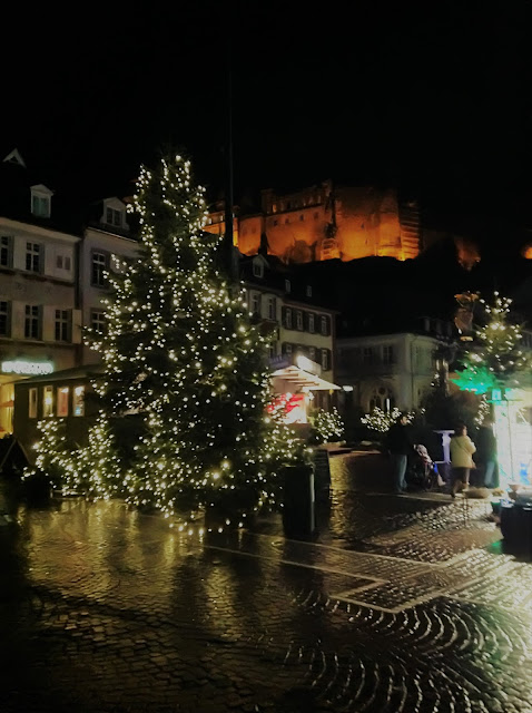 Heidelberg Castle at Night - Christmas Market Heidelberg