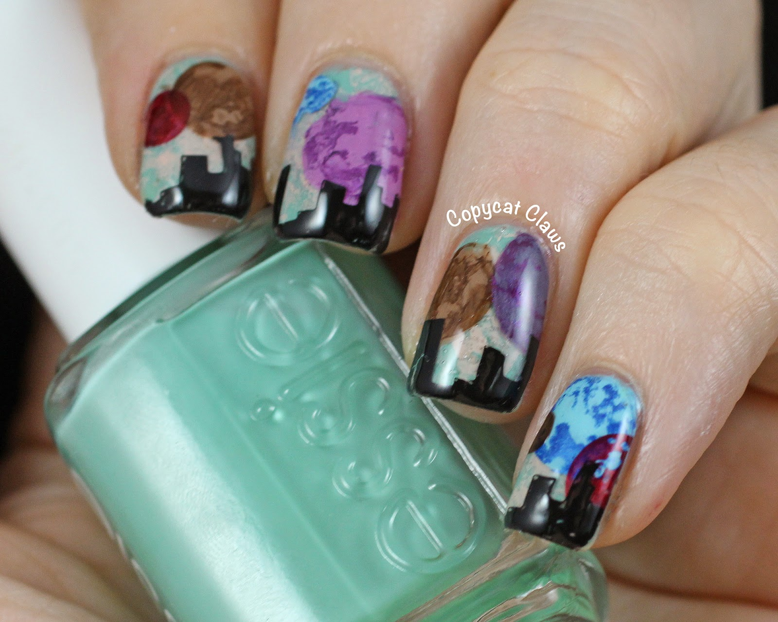 Copycat claws sunday stamping inspired by a tv show youre watching prinsesfo Choice Image