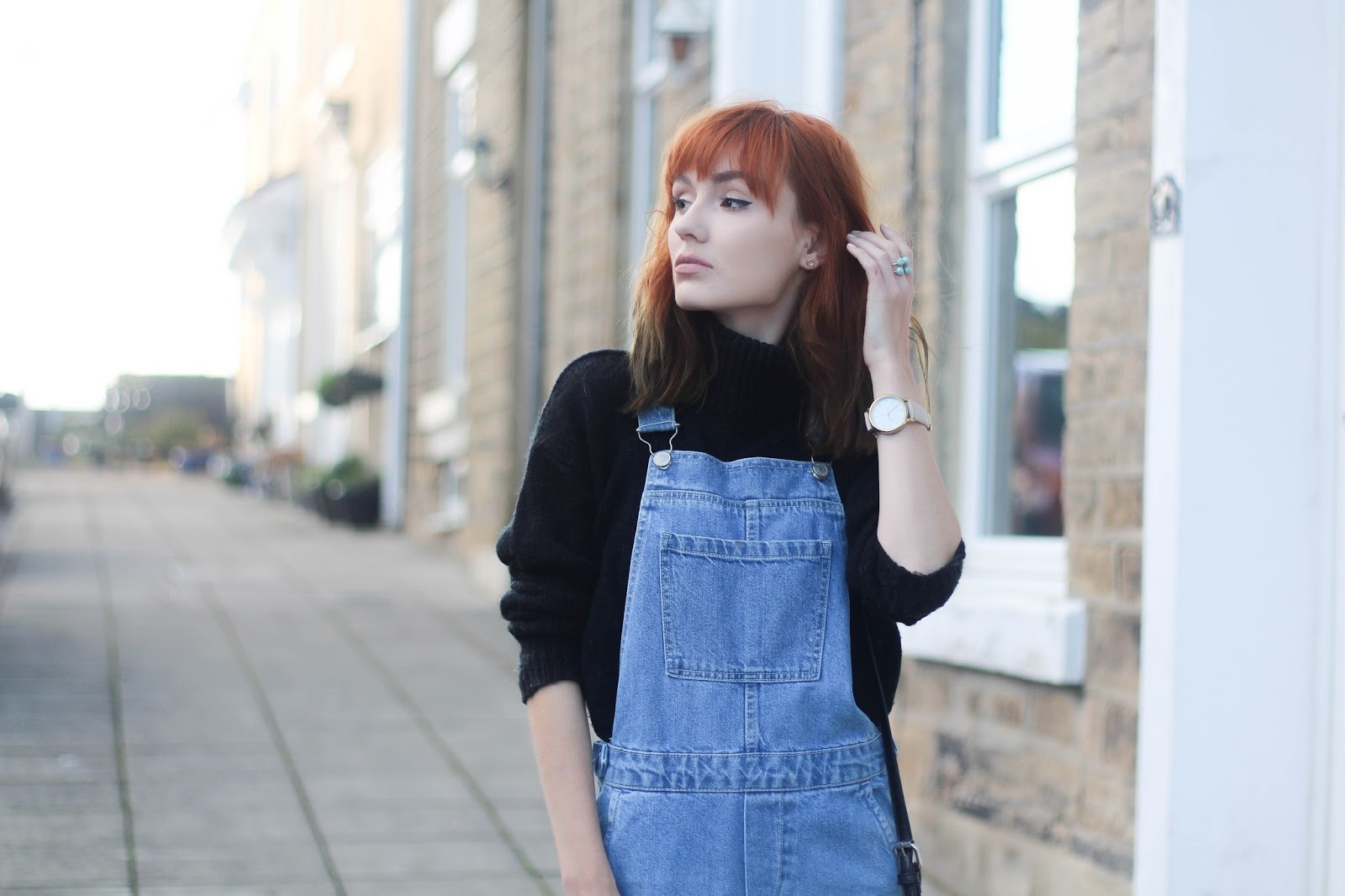 36cf57062 How To Style Dungarees In Winter | Salt and Chic // UK Fashion Blog ...