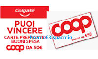 Logo Con Colgate e Coop puoi vincere la spesa: vinci 42 buoni spesa da 50€...e non solo!