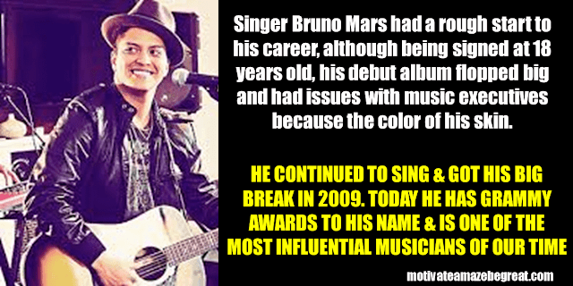 Success Stories From Famous People Who Failed Before Succeeding: Bruno Mars