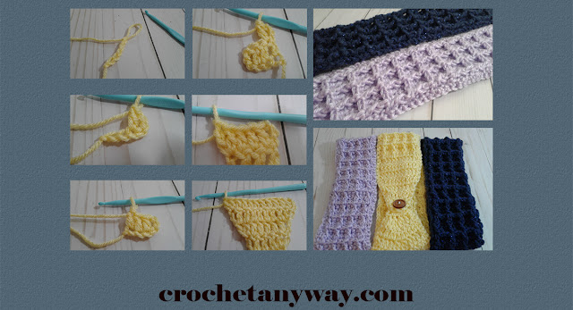 steps for waffle stitch headband