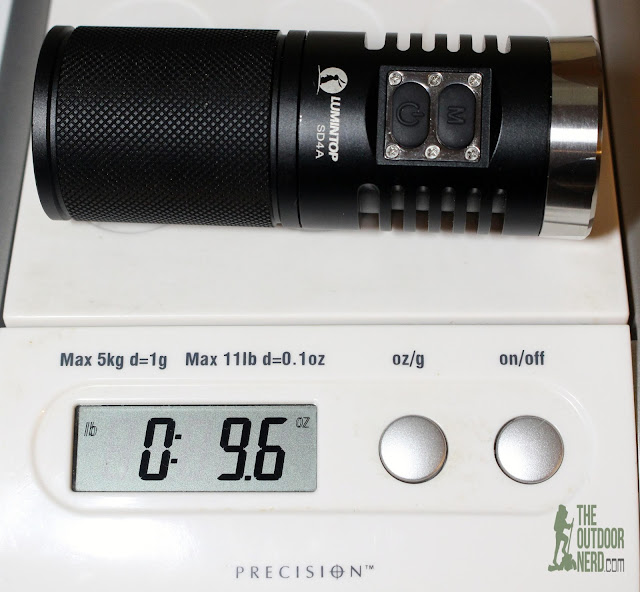 Lumintop SD4A [4xAA LED Flashlight] - On Scale