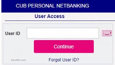 Select Forgot User id option